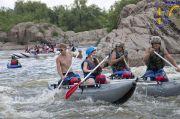 Рафтинг на порогах реки Южный Буг. Катамараны, палатки, Мигия