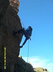 Скалолазание на скалах вблизи порога