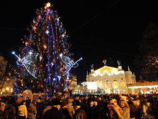 Новий рік і Різдво 2017, Львів