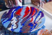 Мастер-класс по жидкому акрилу - Fluid art