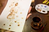 Coffee painting master class