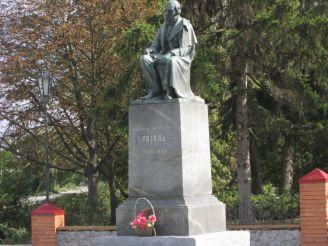 Gogol monument in Mhar