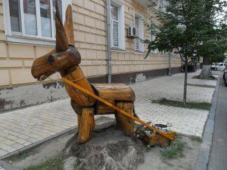 Ослик із візком, Київ