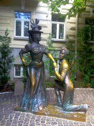 Памятник «За двумя зайцами», Киев