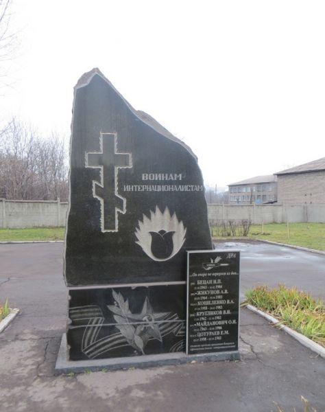 Monument To Soldiersinternationalists Alchevsk Photos - Alchevsk map