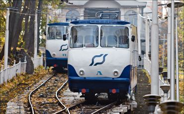The Upper Station of Kyiv Funicular