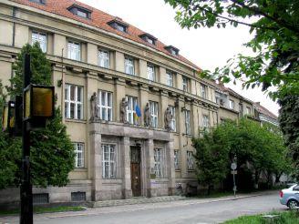 Здание Национального банка на пл. Пушкина.