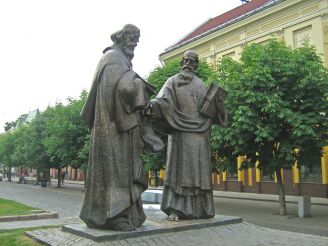 Monument to Saints Cyril and Methodius, Mukacheve