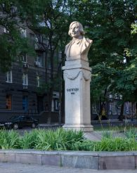 The monument to Gogol, Dnepropetrovsk