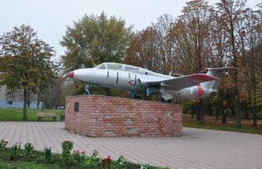 Пам'ятник літак Л-29, Вільнянськ
