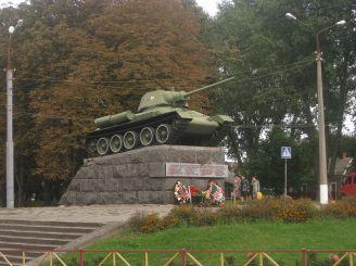 Пам'ятник-танк Т-34, Хмельницький