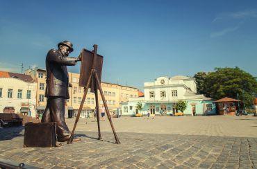 Площадь Евгения Фенцика, Ужгород