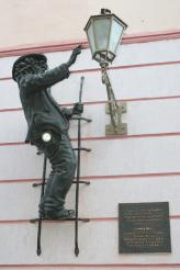 Скульптура Фонарщик дядя Коля, Ужгород