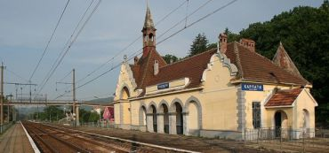 The train station, the Carpathians