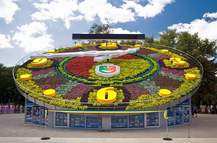 Flower Clock in Kryvyi Rih Kryvyi Rih photos description address