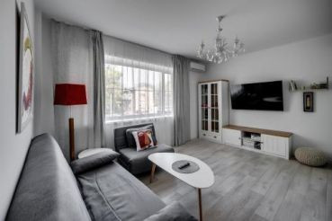 White apartment scandinavian style