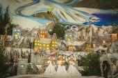 The biggest Christmas Nativity crib Ukraine is in Ternopil