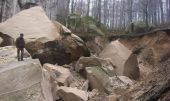 One of the collapsed rocks Dovbush