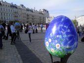Киев украсили полуметровые писанки