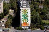 В Киеве нарисовали огромный мурал-натюрморт