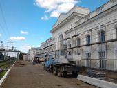 In Striy repair railway station