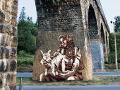 Австрийский виадук в Ворохте украсили яркие муралы