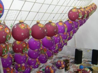 Factory Christmas ornaments