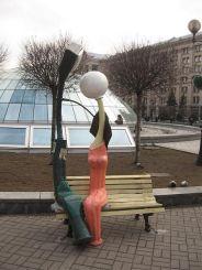 Памятник влюбленным фонарям