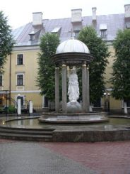 Fountain with a statue of the Blessed Virgin Mary