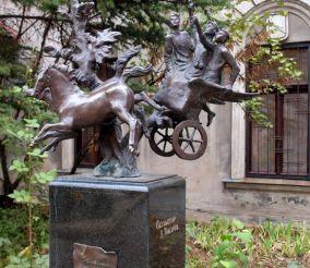 Monument green van, Odessa
